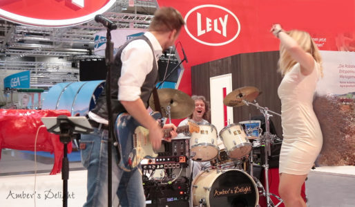 Messe Event mit Live band Amber's Delight bei einer Standparty