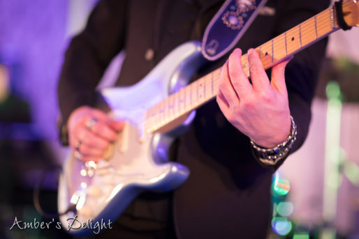 Partyband Amber's Delight in Frankfurt, mit Gitarrist