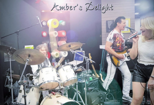 Live Band Ambers Delight bei einer Standparty Messe Duesseldorf