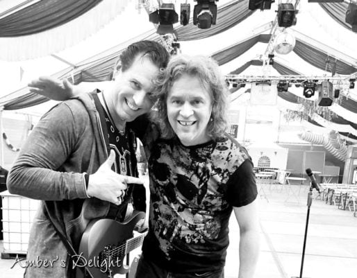 Band Ambers Delight beim Soundcheck im Zelt